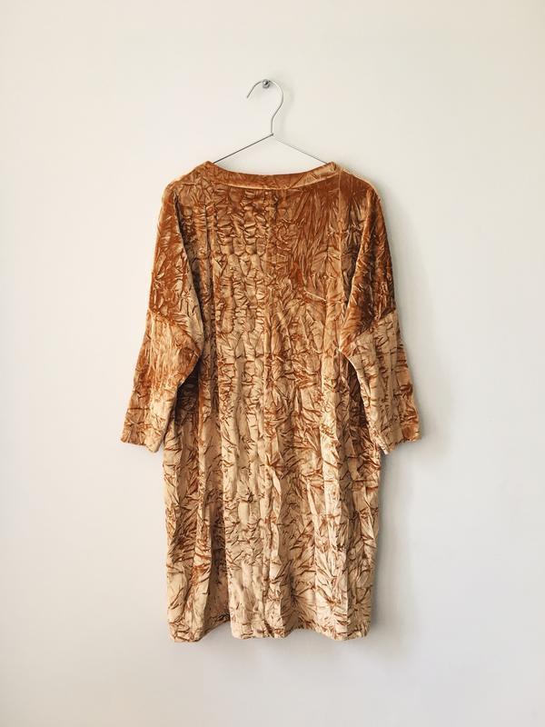 Платье бархатное с жемчужным блеском zara размер м - Фото 7