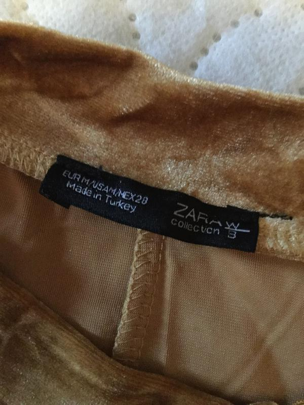Платье бархатное с жемчужным блеском zara размер м - Фото 8