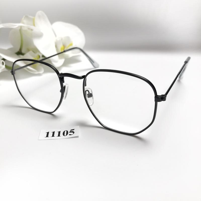 Имиджевые очки в черной оправе к.11105 - Фото 2