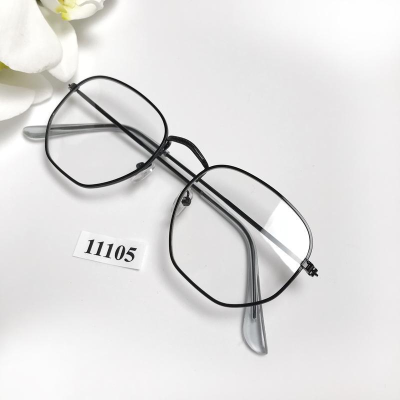Имиджевые очки в черной оправе к.11105 - Фото 3