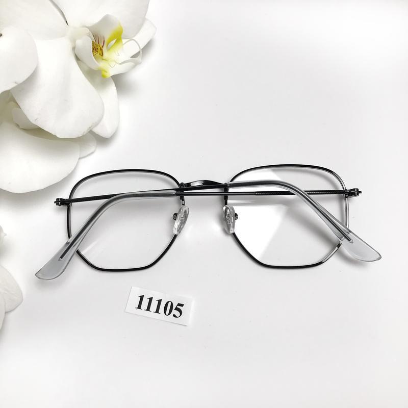 Имиджевые очки в черной оправе к.11105 - Фото 4