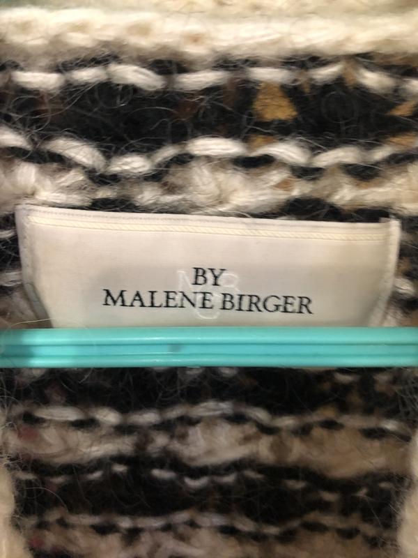 Брендовая кофта свитер пуловер by malene birger мохер - Фото 3