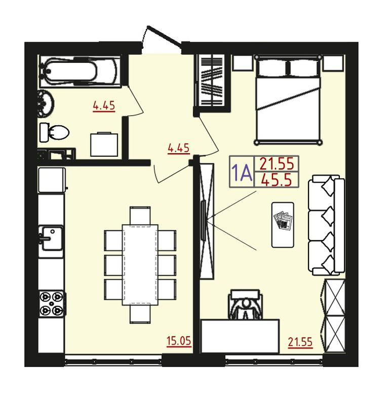 Продам 1 комнатную квартиру в новострое С ВИДОМ НА МОРЕ