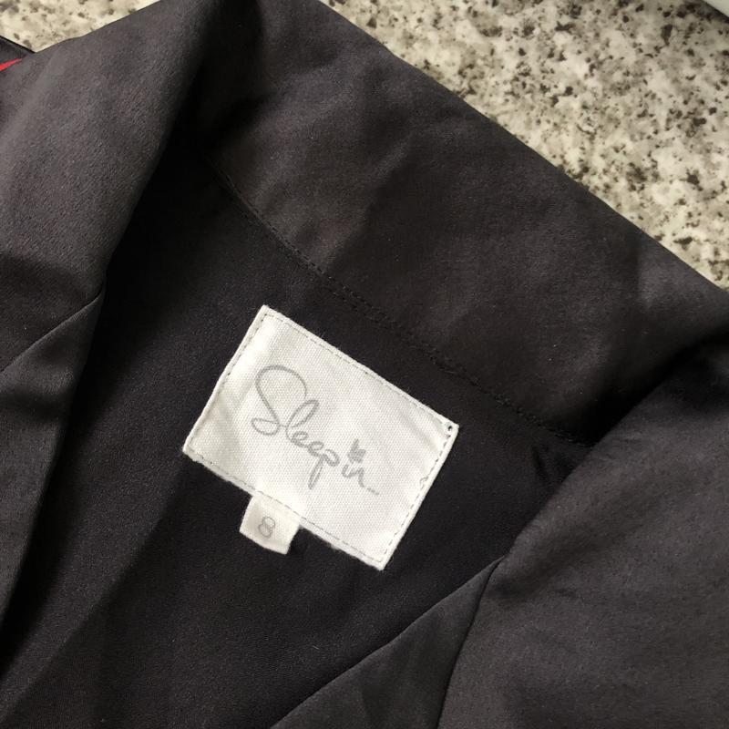Атласная пижама с вышивкой - Фото 5