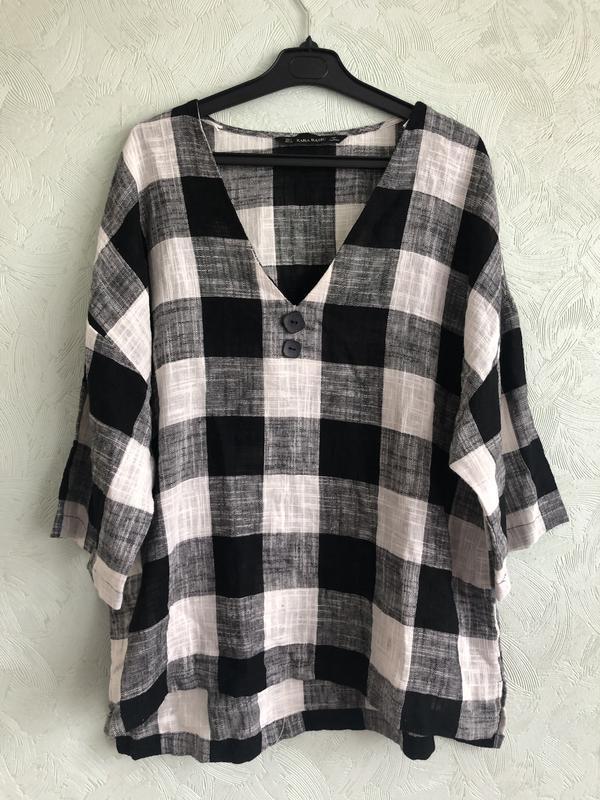 Рубашка лен - Фото 5