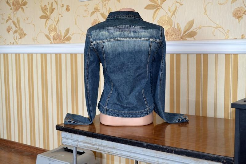 Куртка джинсовая размер s 40 42 пиджак - Фото 2