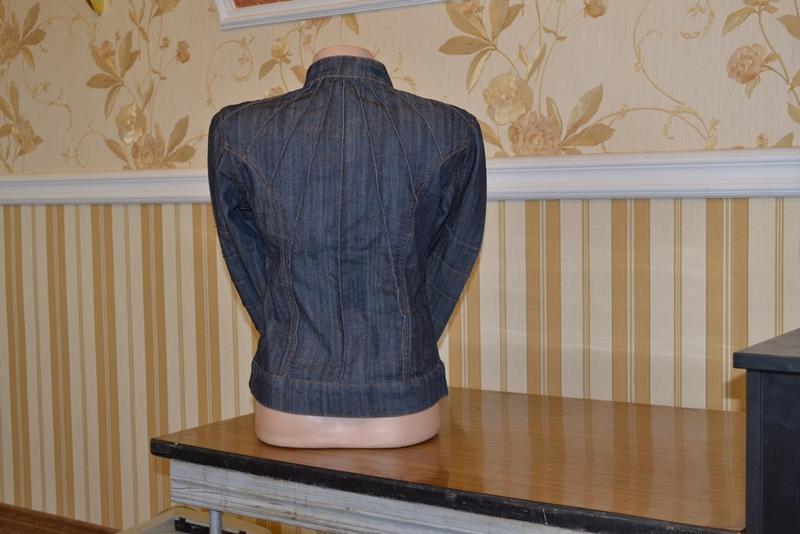 Куртка джинсовая размер s пиджак - Фото 2