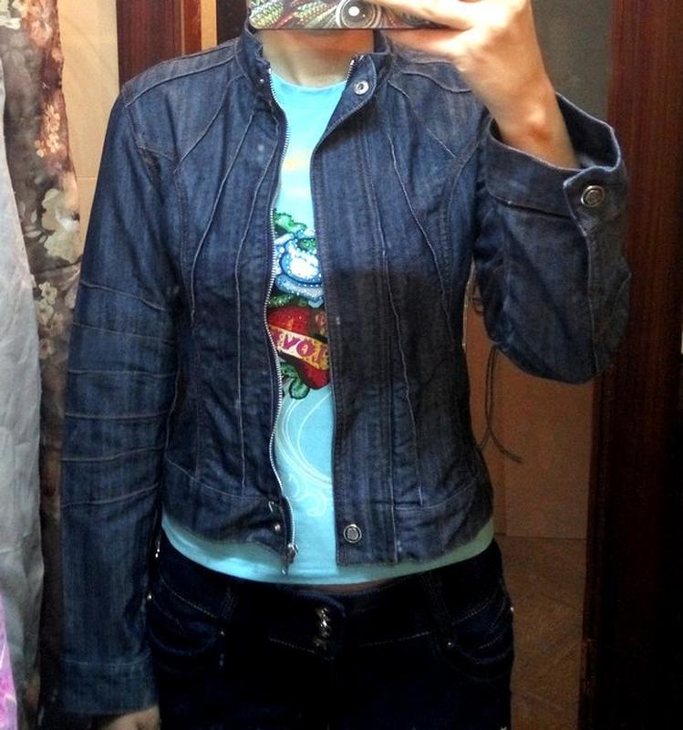 Куртка джинсовая размер s пиджак - Фото 3