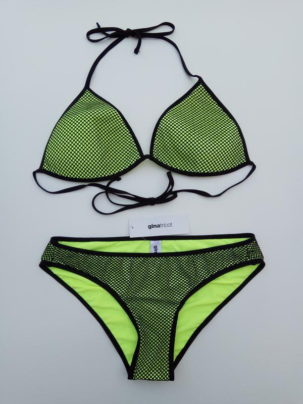Новый яркий неоновый купальник gina tricot - Фото 2