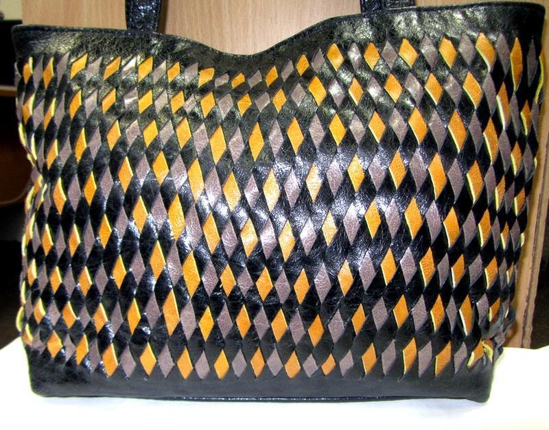 Сумка кожаная плетеная - Фото 2