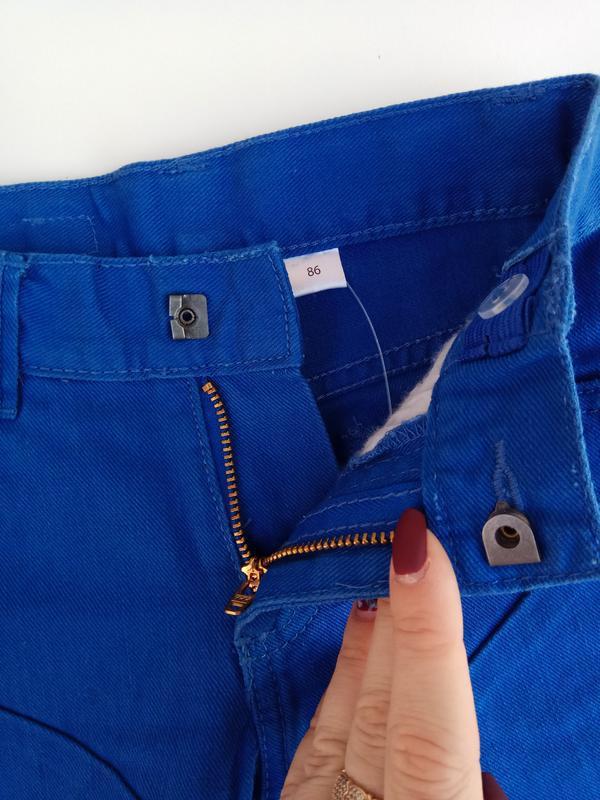 Синие джинсы lupilu на рост 86 см 12-18 мес - Фото 3