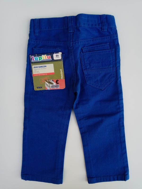 Синие джинсы lupilu на рост 86 см 12-18 мес - Фото 4