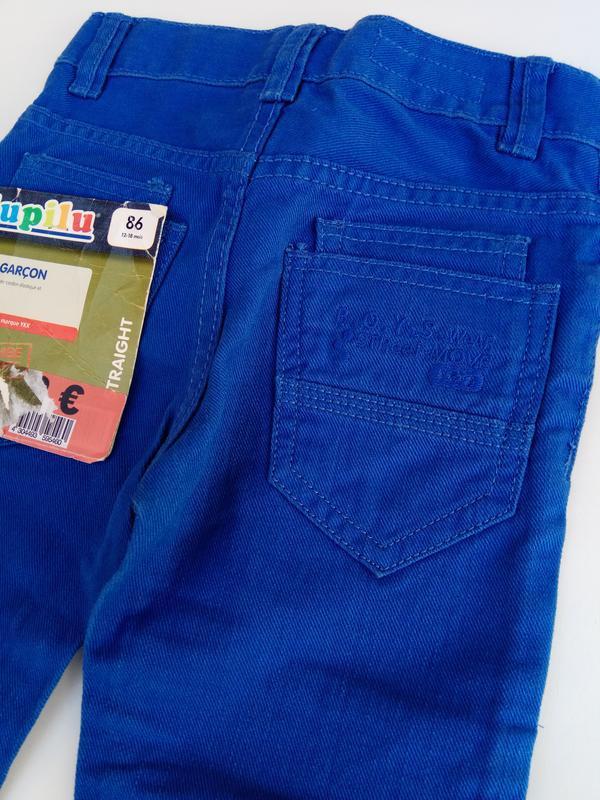 Синие джинсы lupilu на рост 86 см 12-18 мес - Фото 5
