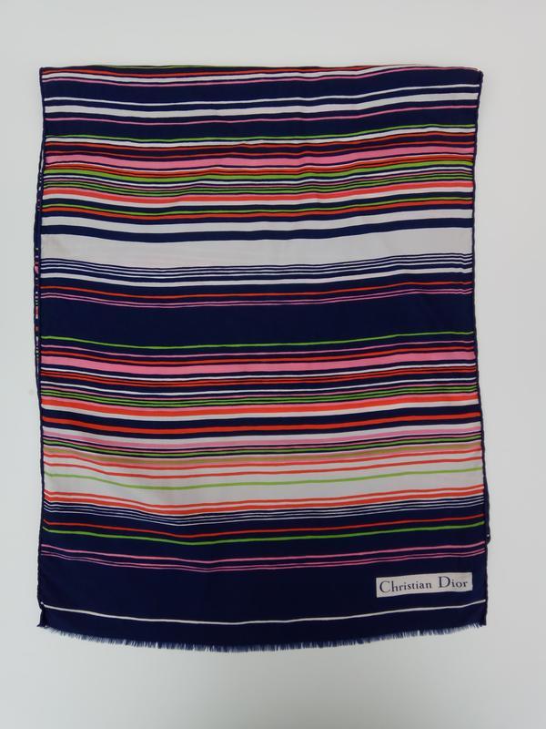 Шикарный фирменный шарф christian dior - Фото 2