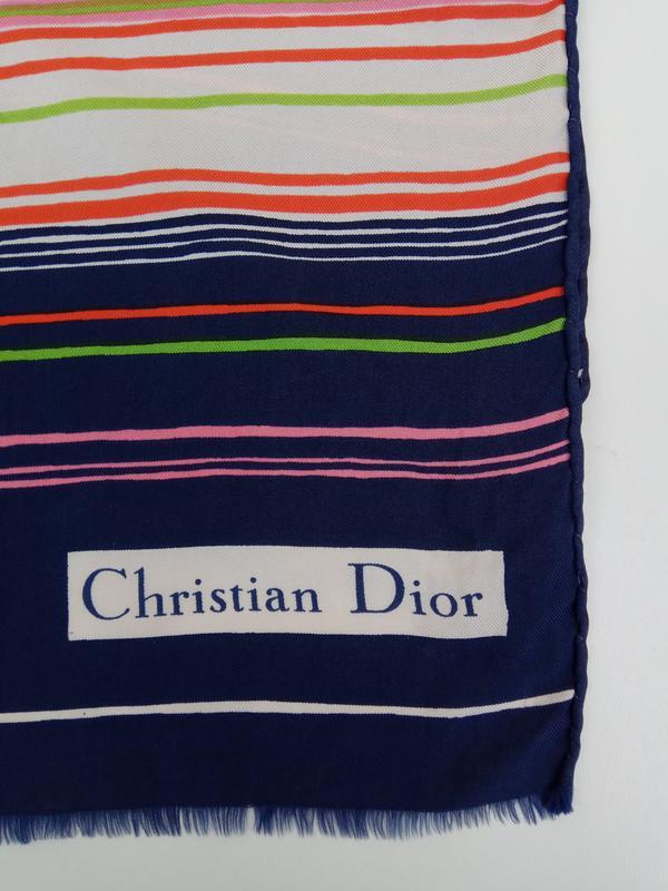 Шикарный фирменный шарф christian dior - Фото 3
