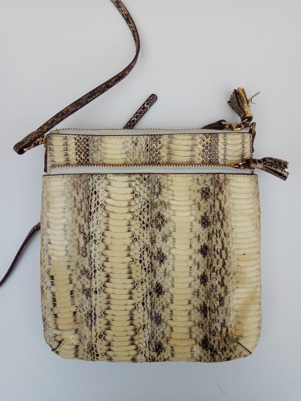 Сумочка с натуральной кожи питона - Фото 7