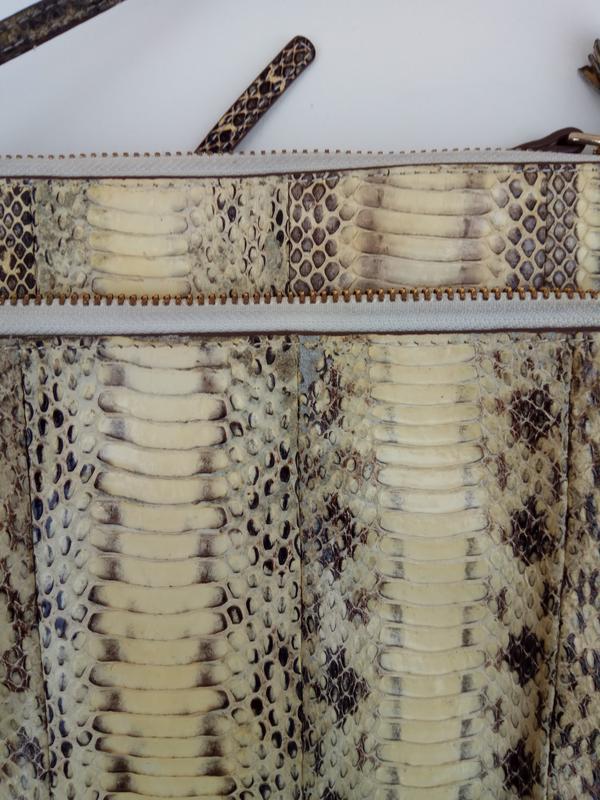 Сумочка с натуральной кожи питона - Фото 8