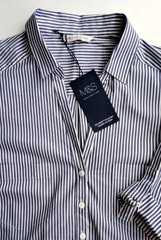 Скидка до 20.02! стильная блузка-рубашка в сине-голубую полоск... - Фото 5