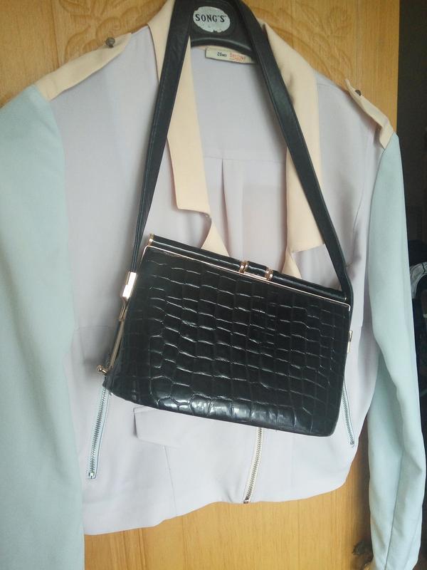 Шикарная сумка змеиный принт - Фото 2