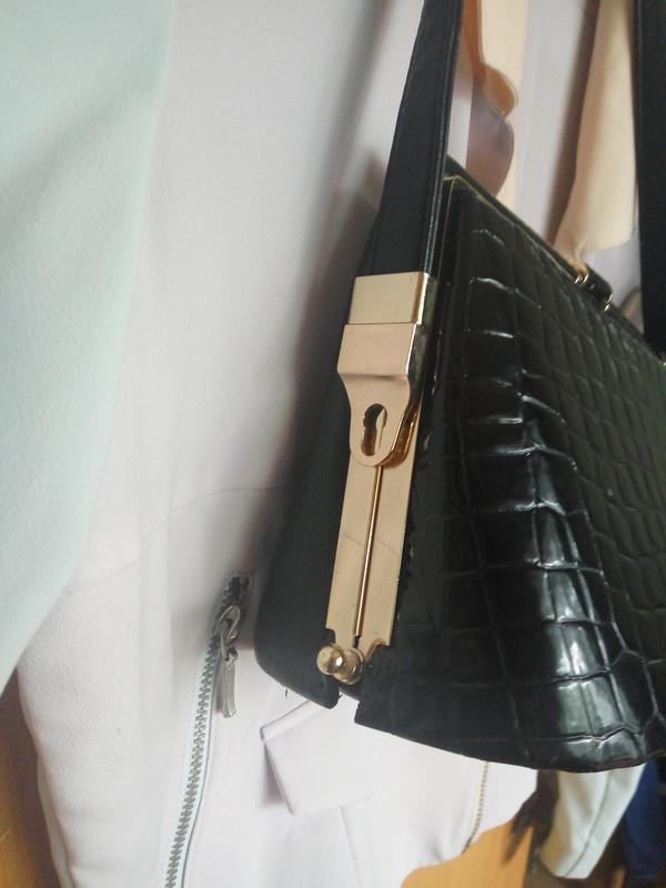 Шикарная сумка змеиный принт - Фото 3