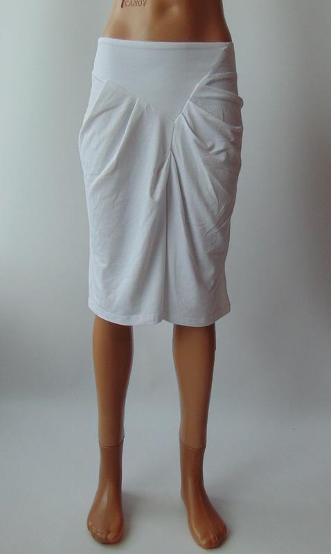 Белая трикотажная юбка miss jcl с сток
