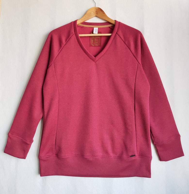 Пуловер свитшот реглан на флисе quechua - Фото 6