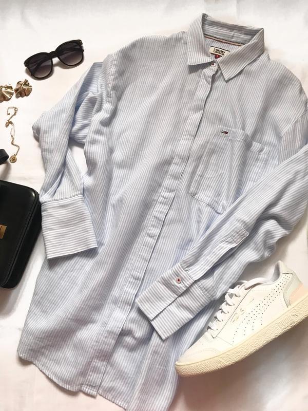 Крутая рубашка tommy  р. s