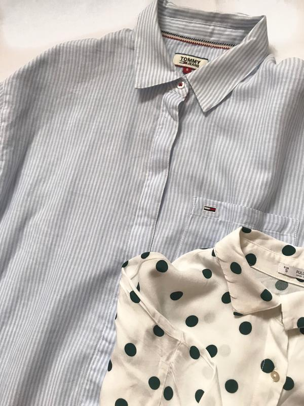 Крутая рубашка tommy  р. s - Фото 3