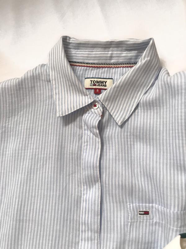 Крутая рубашка tommy  р. s - Фото 4