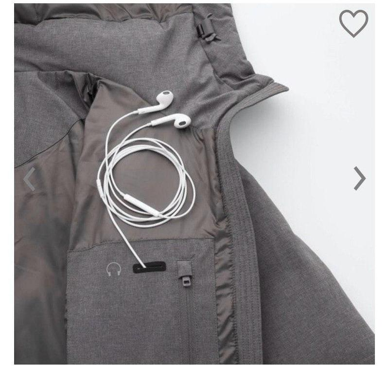 Удлиненный женский пуховик-курточка от uniqlo
