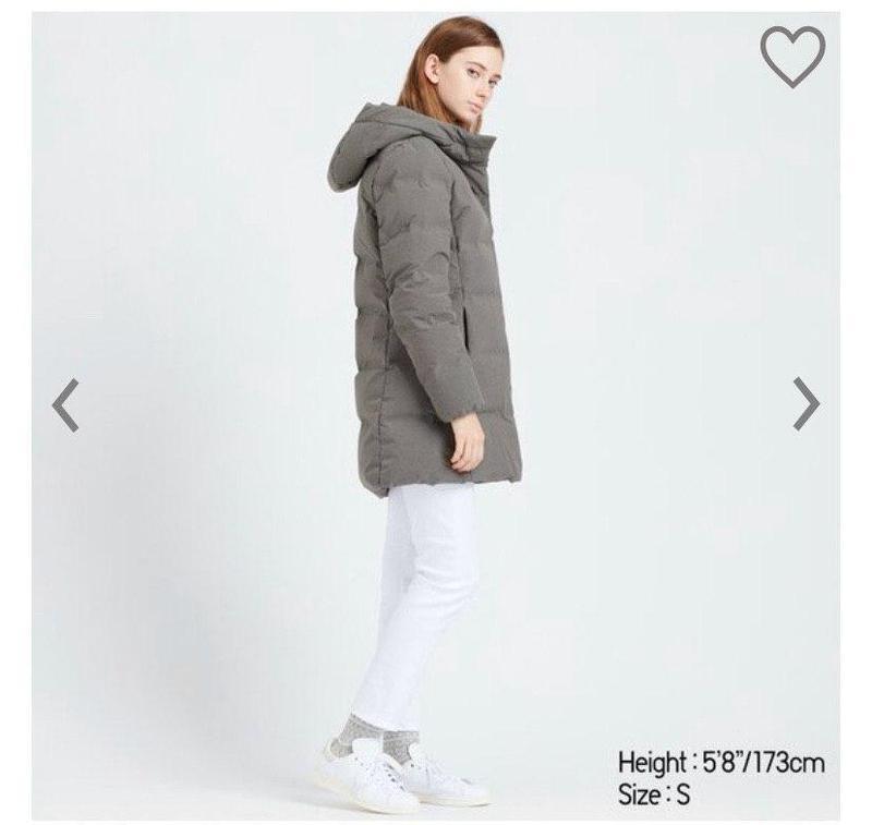 Удлиненный женский пуховик-курточка от uniqlo - Фото 3