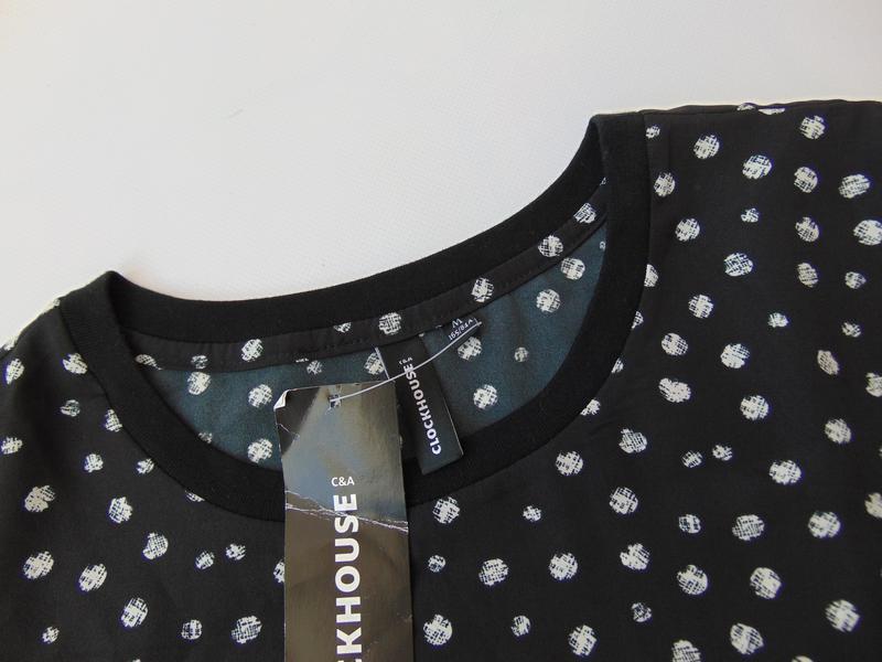 Короткая шифоновая футболка с принтом c&a clockhouse - Фото 4