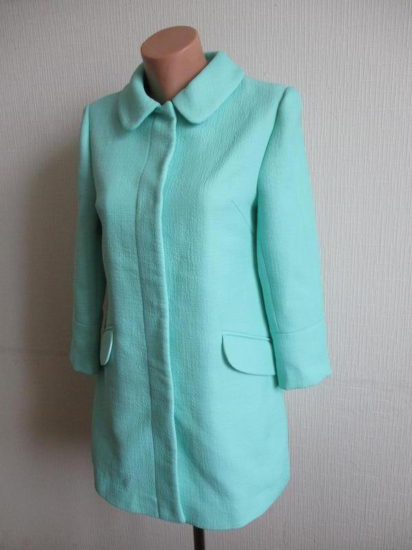 Нежный мятный удлиненный жакет-пальто definitions - Фото 3