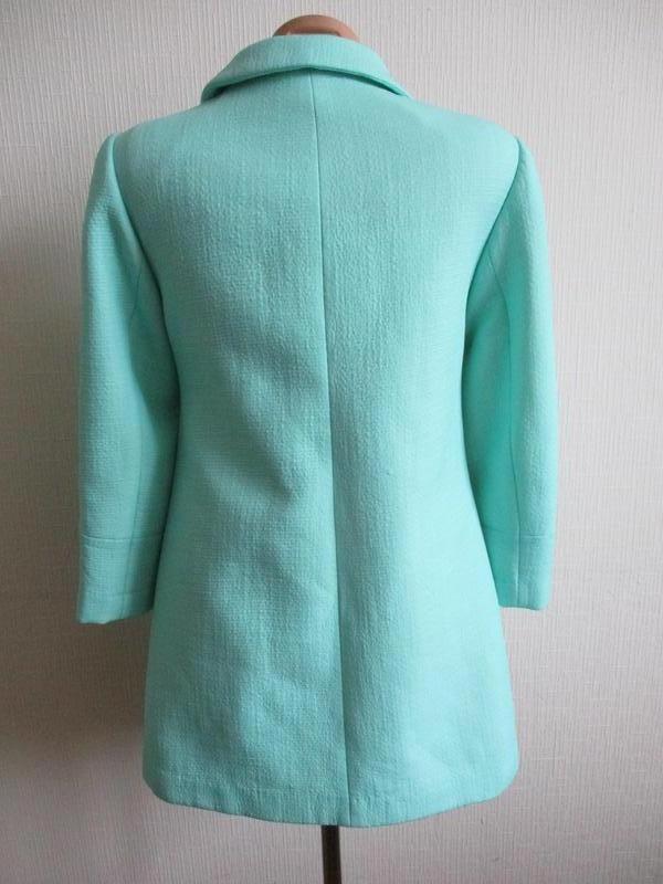 Нежный мятный удлиненный жакет-пальто definitions - Фото 4