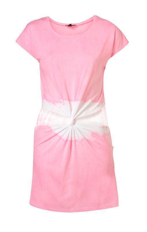 Идеальное платье topshop pink cut out tie dye tunic