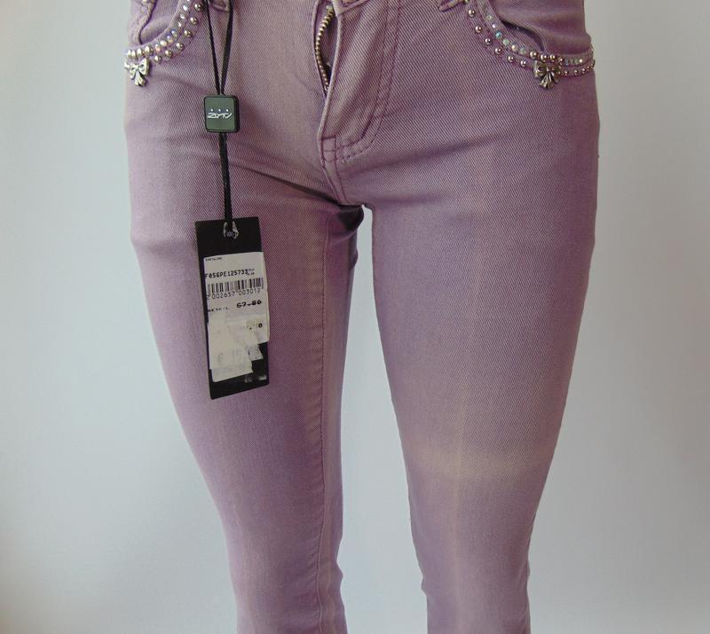 Фиолетовые штаны от ake италия 40 р. - Фото 2