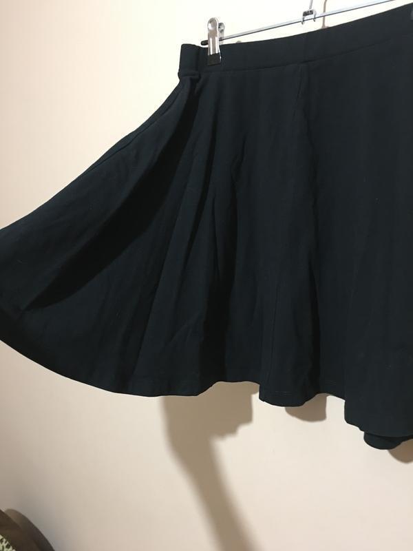 Черная базовая юбка topshop - Фото 2