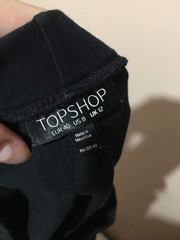 Черная базовая юбка topshop - Фото 5