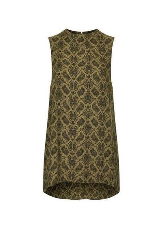 Блуза туника topshop змеиный принт snake print high neck tunic - Фото 7
