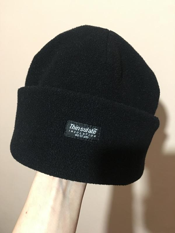 Флисовая двухслойная шапка thinsulate | insulation 40 gram - Фото 3