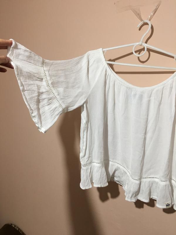 Блузка superdry folk dream blouse с открытыми плечами - Фото 2