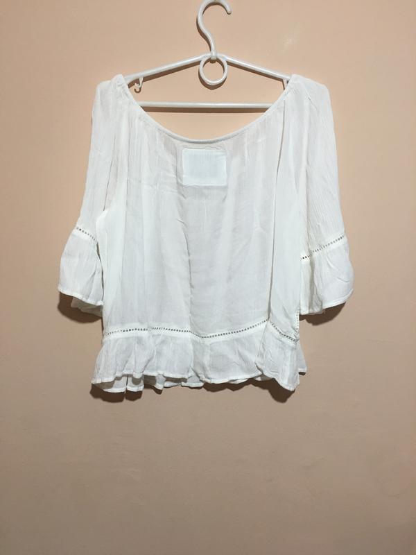 Блузка superdry folk dream blouse с открытыми плечами - Фото 3