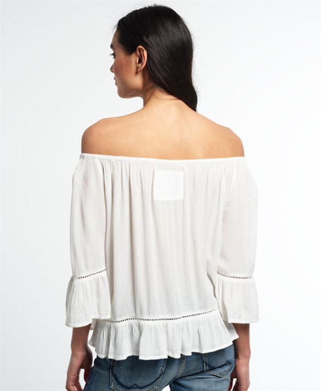 Блузка superdry folk dream blouse с открытыми плечами - Фото 4