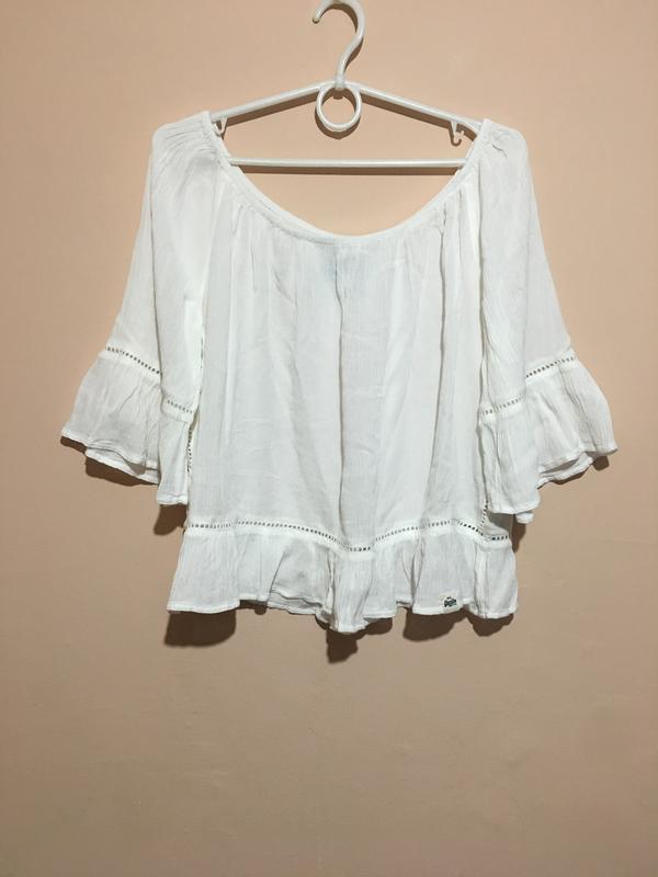 Блузка superdry folk dream blouse с открытыми плечами - Фото 6