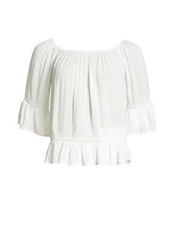 Блузка superdry folk dream blouse с открытыми плечами - Фото 8
