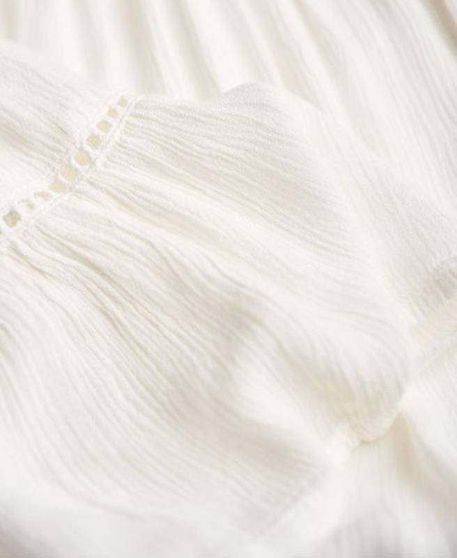 Блузка superdry folk dream blouse с открытыми плечами - Фото 9