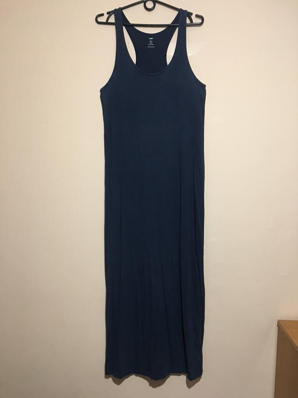 Макси платье h&m синего цвета