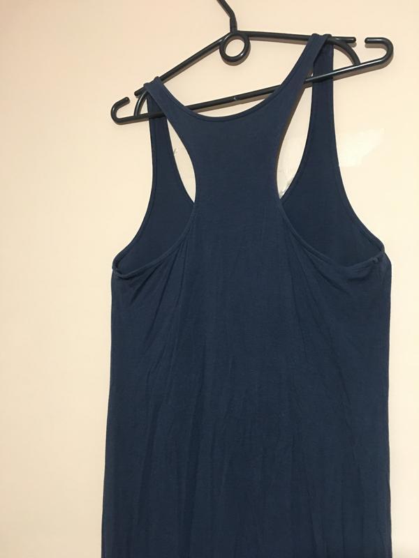 Макси платье h&m синего цвета - Фото 2