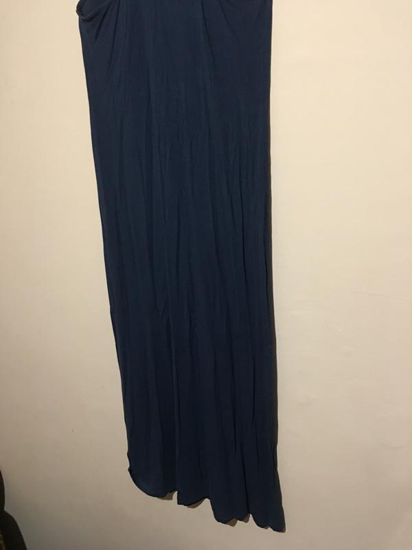 Макси платье h&m синего цвета - Фото 3