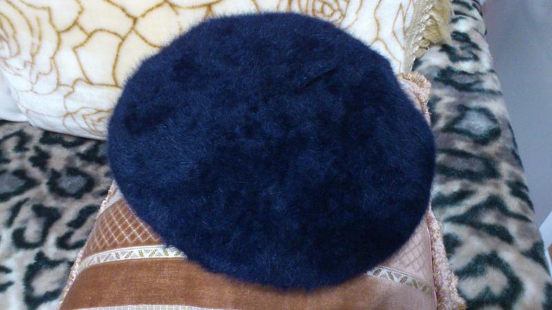 Берет теплый большой шапка шляпка синего цвета kangol 55% анго...